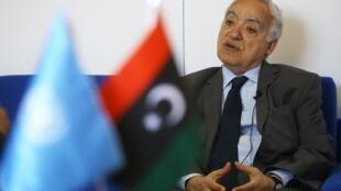 L'émissaire de l'ONU en Libye, Ghassan Salamé, à Tripoli, le 18 avril 2019.