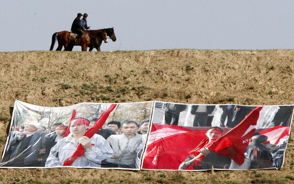 Kirghizistan - cavalier - manifestation