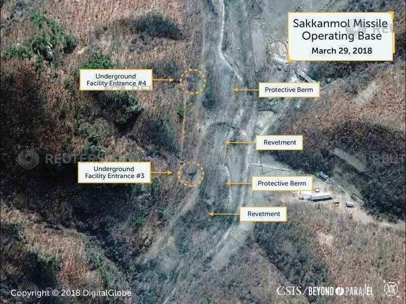 Ảnh vệ tinh chụp căn cứ tên lửa ở Sakkanmol, Bắc Triều Tiên