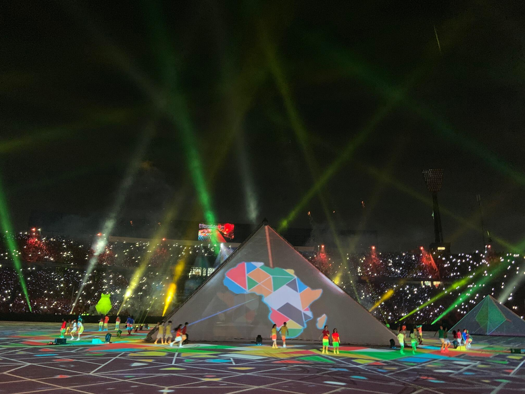 More than 70,000 fans packed into the Cairo International Stadium for the opening ceremony and Egypt's first game against Zimbabwe.