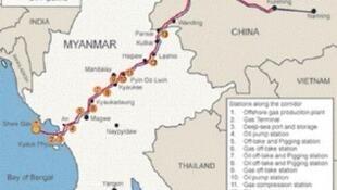 缅甸皎漂港地理位置图