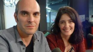 Tito Asorey y Melania Cruz en los estudios de RFI