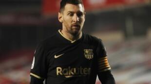 Lionel Messi na Barcelona yayin wasan daf da na kusa da na karshe a gasar Copa del Rey