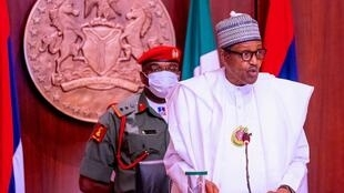 Rais wa Nigeria, Muhammadu Buhari.