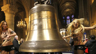 The Femen protest in Notre-Dame Cathedral