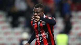 La joie de Jean Michaël Seri après un but face à Toulouse, en décembre 2016 avec Nice.