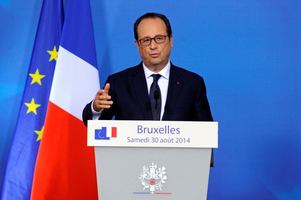 O president François Hollande durante entrevista coletiva em 31 de agosto de 2014.