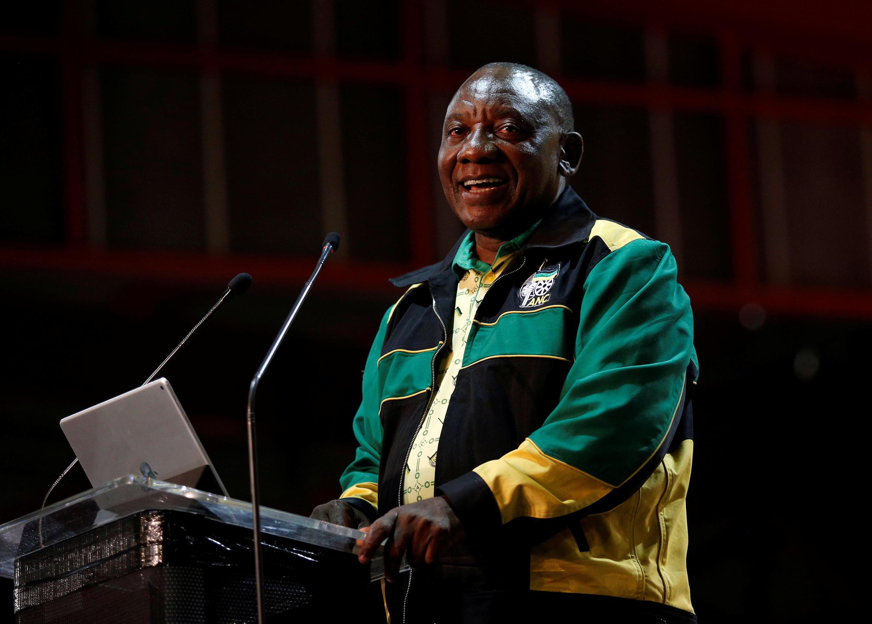 O novo presidente do ANC, partido no poder na África do Sul, Cyril Ramaphosa.
