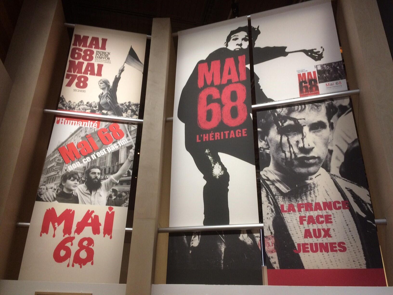 Une photo de l'Exposition « Icônes de mai 68, les images ont une histoire ».