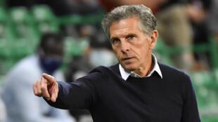 L'entraîneur de Saint-Etienne Claude Puel, le 12 septembre 2020 au stade Geoffroy-Guichard