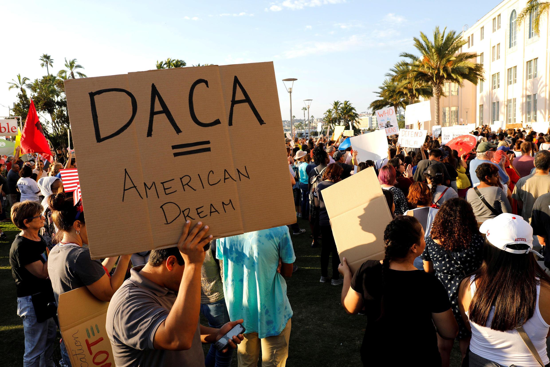Manifestation en faveur du programme Daca, en Californie en 2017.