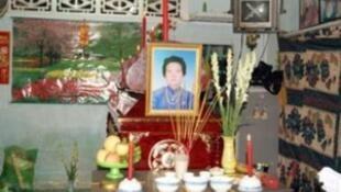 Tang lễ của bà Đặng Thị Kim Liên (Ảnh : @danlambao)