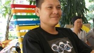 Blogger Phạm văn Hải tức Anh ba Sài Gòn trước khi bị bắt năm 2010.