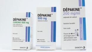 Depakine, thuốc chống động kinh bị nghi ngờ.