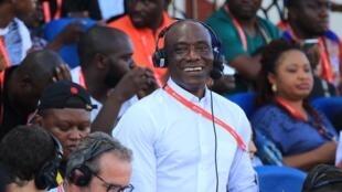 Joseph-Antoine Bell lors du match Égypte/Afrique du Sud à Alexandrie.