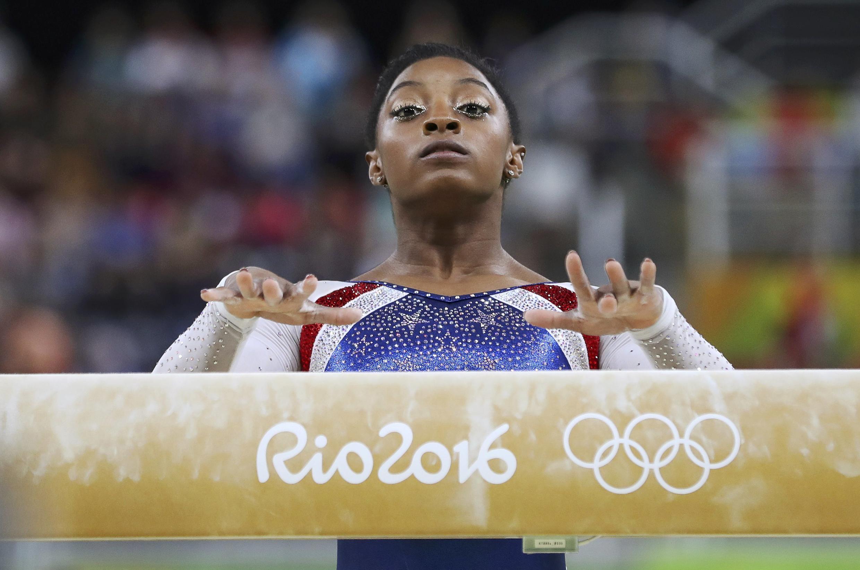 Simone Biles en los Juegos Olímpicos de Río de Janeiro, en 2016.