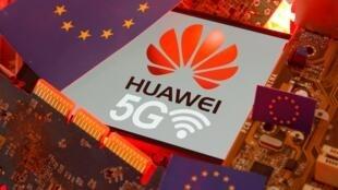 中國電訊巨頭華為5G示意圖