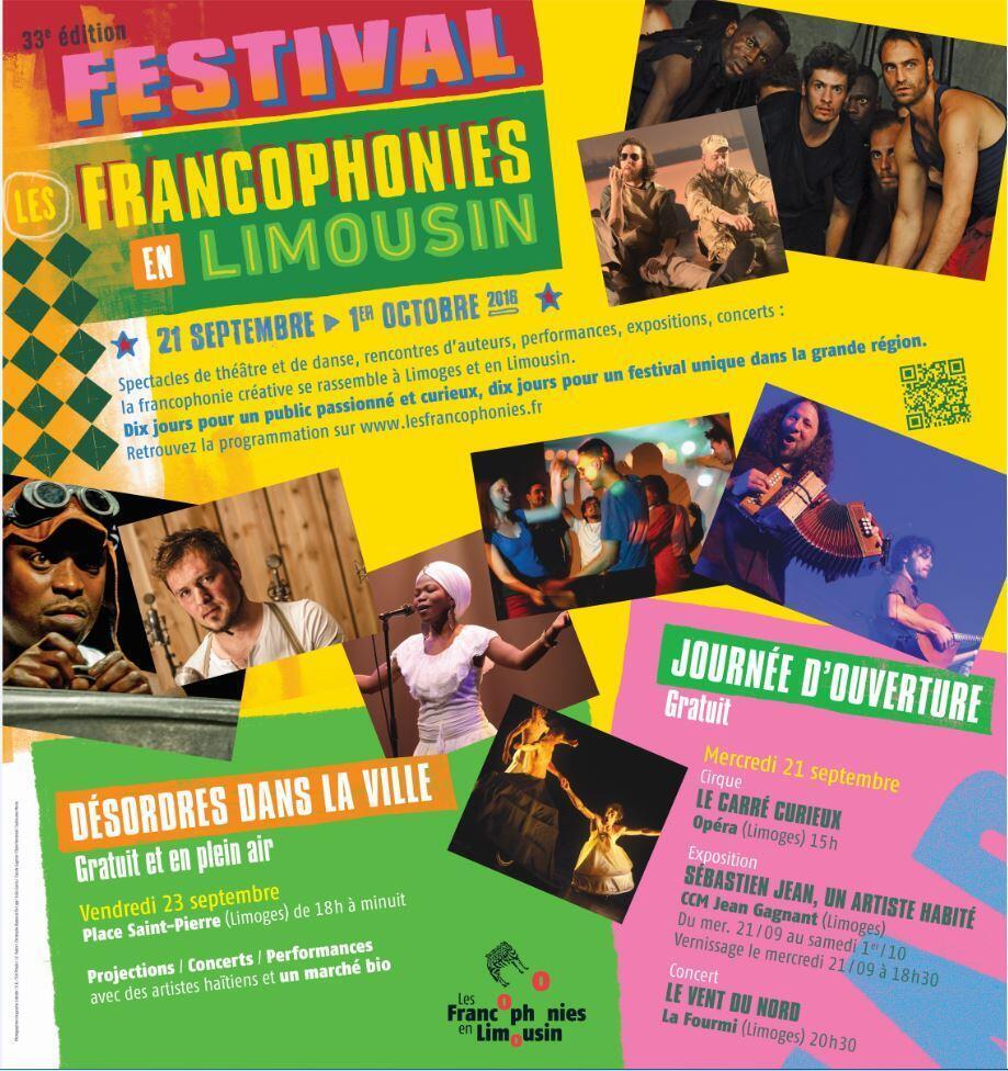 Les Francophonies en Limousin.