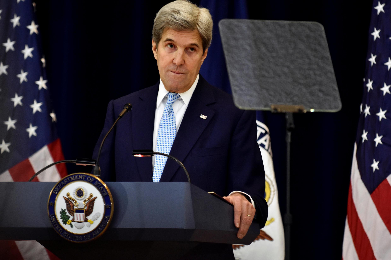 Le secrétaire d'Etat américain John Kerry lors de son discours sur la paix au Proche-Orient à Washington, le 28 décembre 2016.