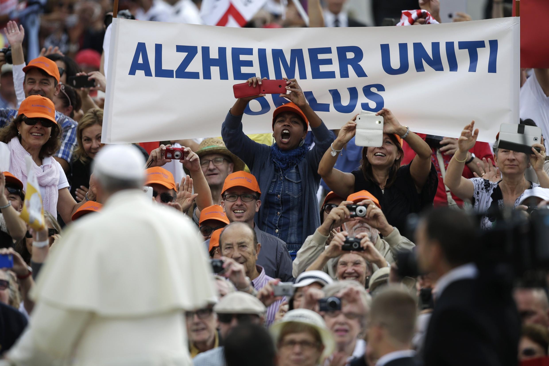 Giáo hoàng Phanxicô tại quảng trường thánh Phêrô, 17/09/2014.