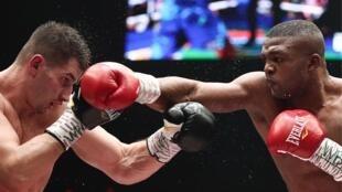 Le boxeur congolais Junior Makabu, en août 2019.