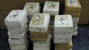 Blocs de cocaïne.