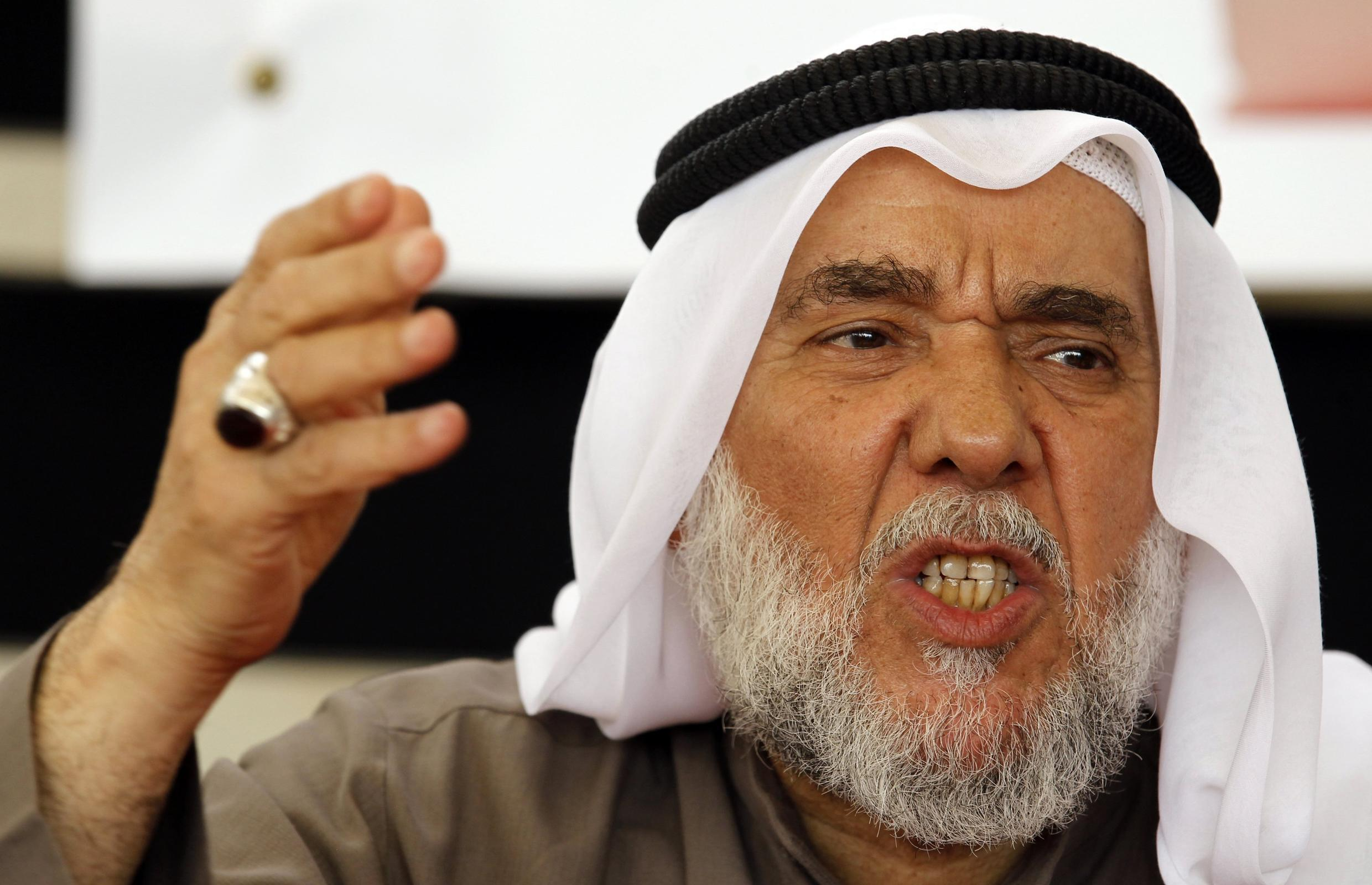 Hassan Mushaimaa at a news conference held in Pearl Square in the Bahraini capital of Manama, 27 February, 2011