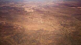 Vue aérienne de la région de Vakaga, à l'extrême nord-est de la Centrafrique.