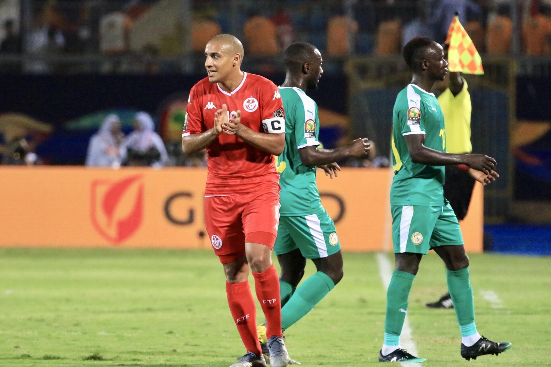 Wahbi Khazri, capitaine de la Tunisie face au Sénégal après la sortie de Youssef Msakni.