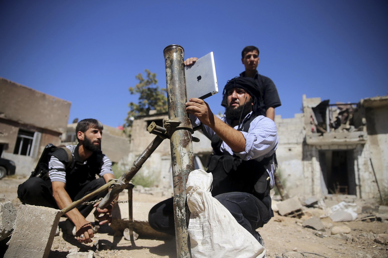 Islamist fighters in Jobar, Damascus last year