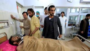 L'une des victimes du triple attentat du 19 mai 2018 à Jalalabad.
