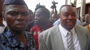 Kpatcha Gnassingbé à son arrivée au tribunal de Lomé, le 15 septembre 2011.
