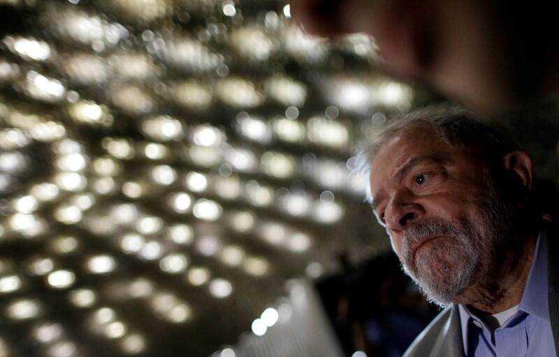 O ex-presidente Luiz Inácio Lula da Silva durante o discurso de Dilma Rousseff no Senado, em 29 de agosto de 2016.