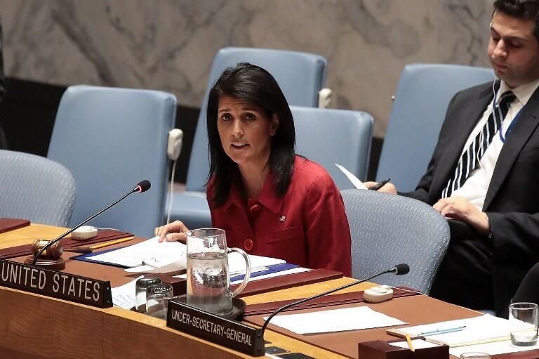 نیکی هیلی، سفیر امریکا در سازمان ملل