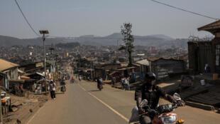 Vue générale de la ville de Butembo, dans la province du Nord-Kivu, épicentre de la dernière épidémie d'Ebola en République démocratique du Congo, le 9 mars 2019.