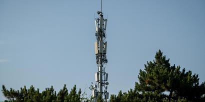 Une antenne utilisée pour le réseau 5G à Pékin, en Chine, le 19 mai 2020.