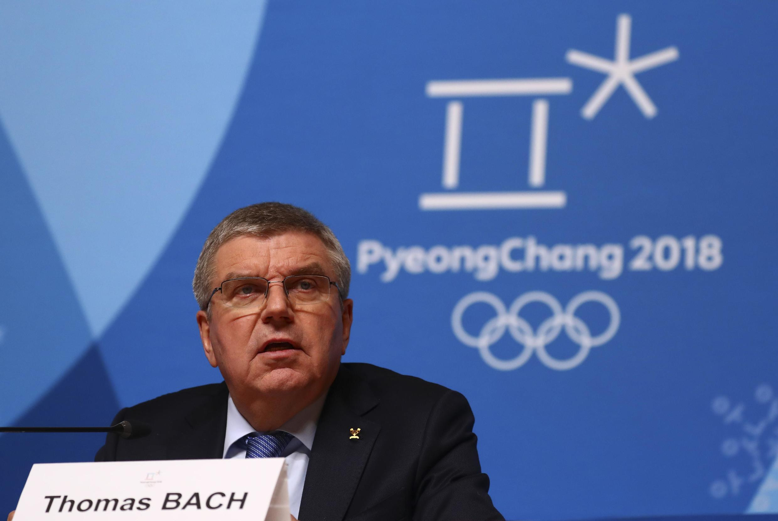 International Olympic Committee President Thomas Bach is with other members in Pyeongchang, South Korea, for this month's Winter Games.