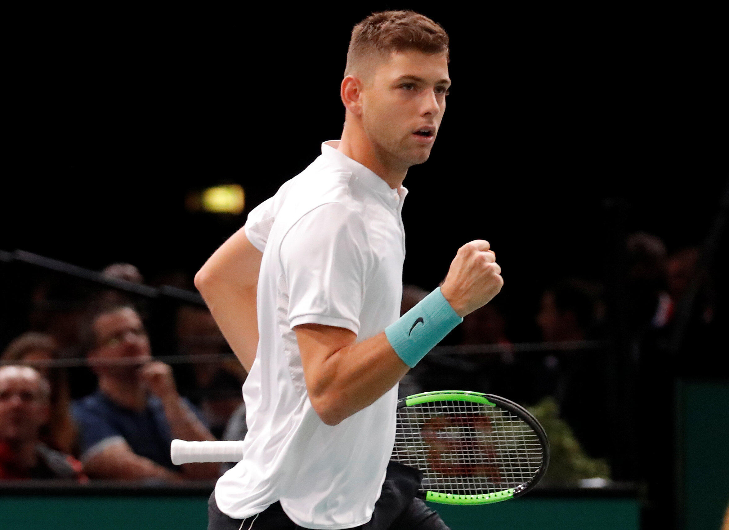 Filip Krajinovic came through two rounds of qualifying to reach the final at the Paris Masters.