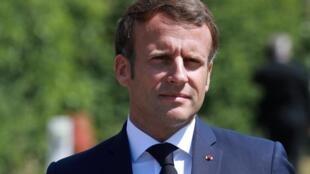 Emmanuel Macron, chefe de Estado francês.