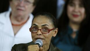 La candidata del Partido Socialista de Brasil, Marina Silva, en Brasilia el 20 de agosto de 2014.