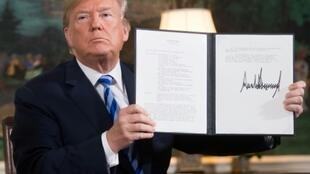 US President Donald Trump withdrew from the Iran nuclear deal in May