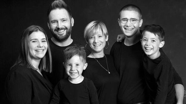 Martin Hubaut et sa famille.
