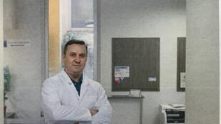 Foto do médico russo Igor Nazarov publicada pela revista L'Obs.