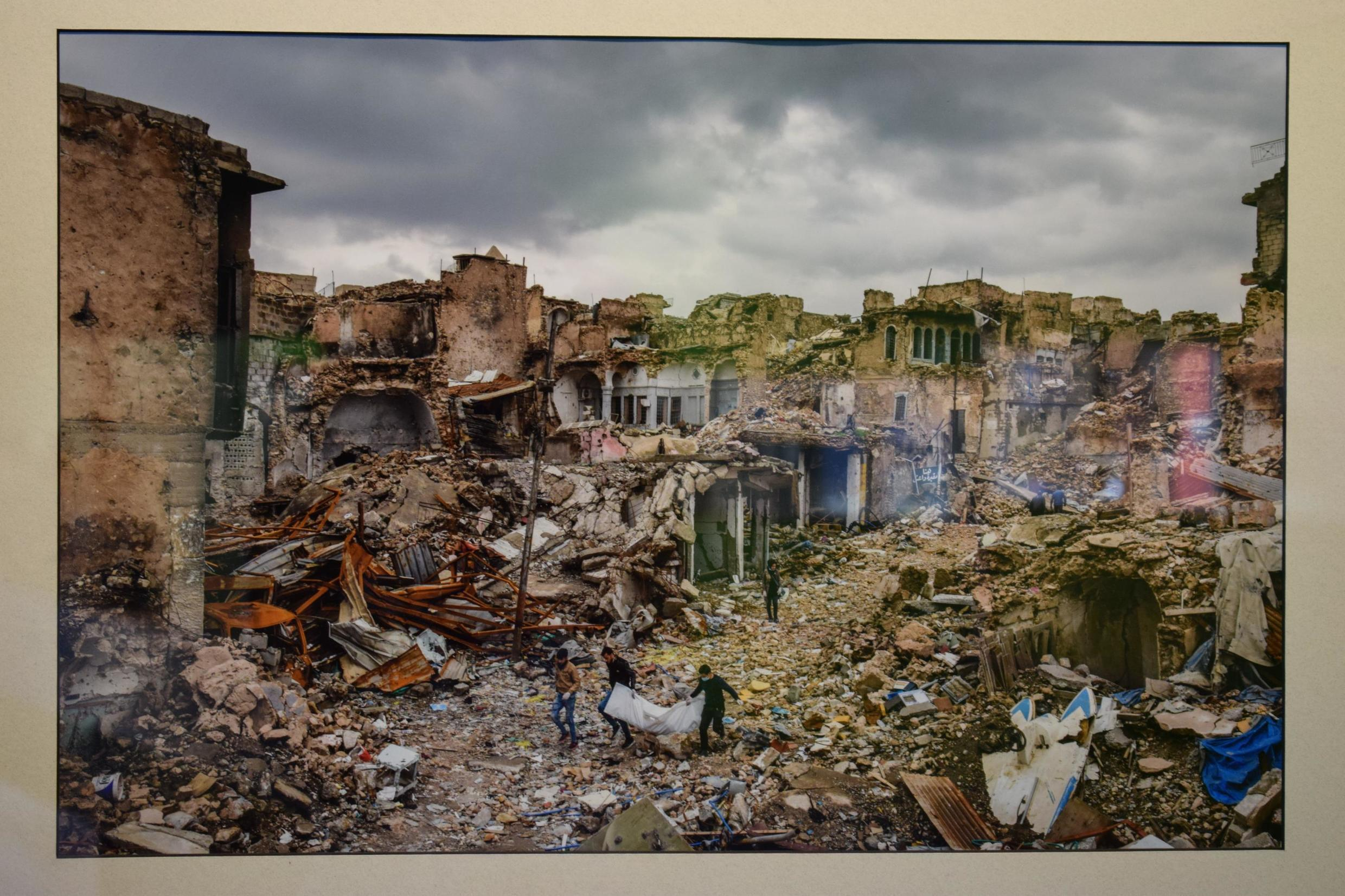 Photo taken by Ivor Prickett of a Mosul neighbourhood destroyed by the fighting