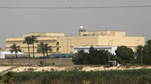 سفارت آمریکا در منطقه امنیتی سبز بغداد.