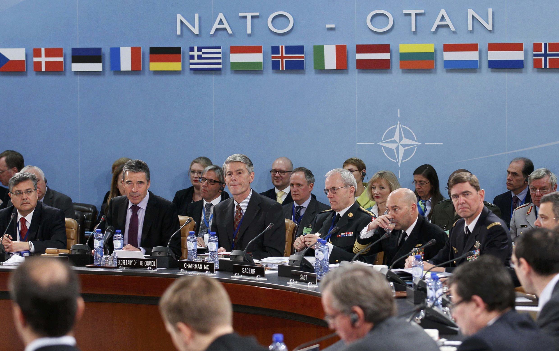 Viongozi wa NATO wakiwa katika mkutano