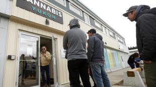 Les boutiques de cannabis sont prises d'assaut par les consommateurs.