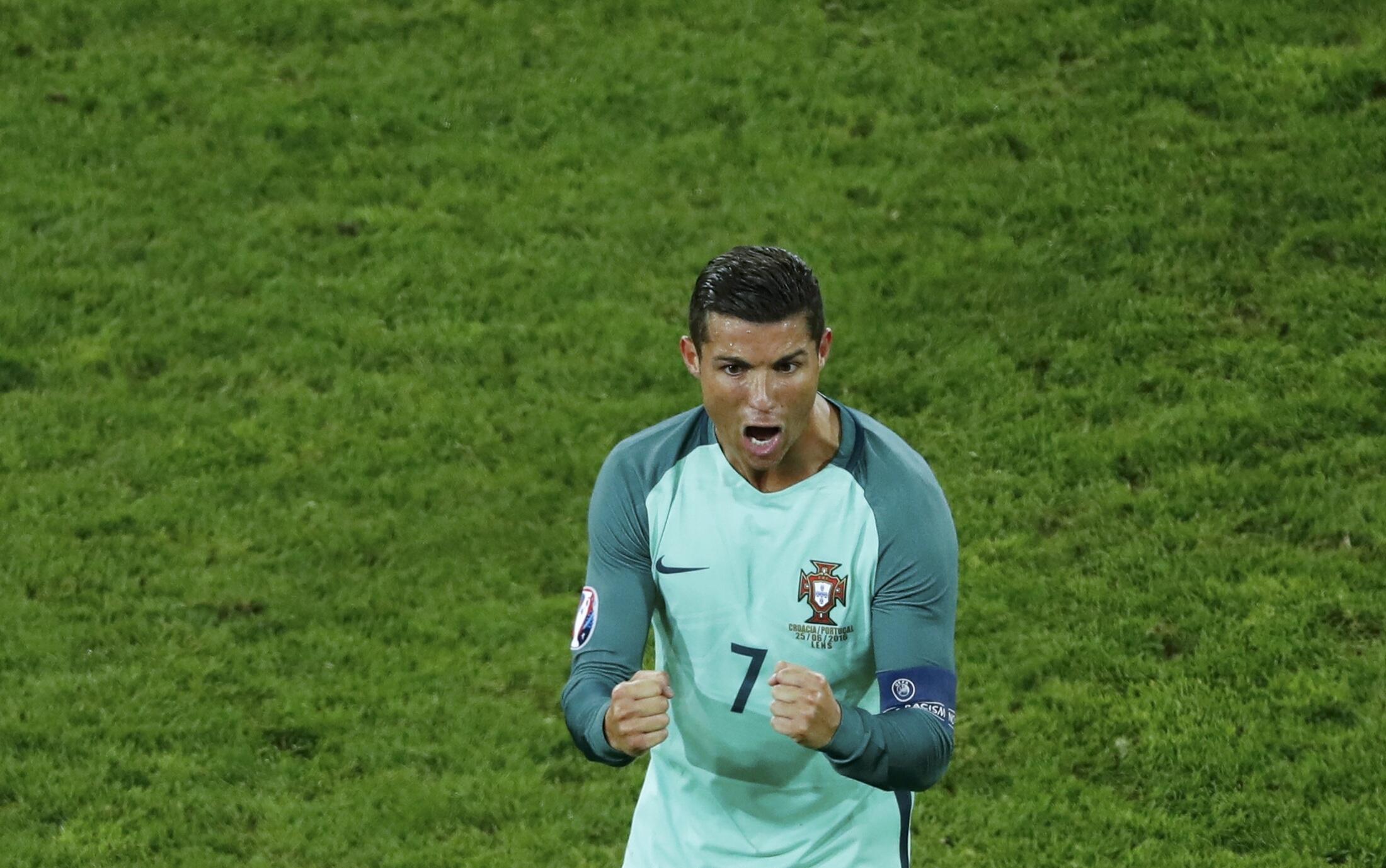 Mchezaji wa Ureno, Christian Ronaldo.
