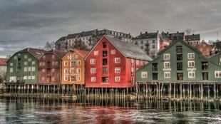 Le port de Trondheim en Norvège.
