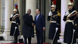 Les présidents français et malien, fin 2013 à l'Elysée, à Paris.